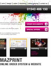 Online print ordering system and website