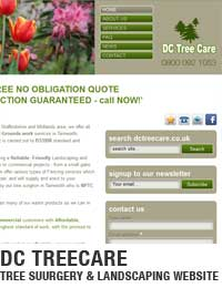 Tree surgery services in Tamworth